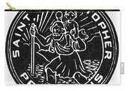 Saint Christopher Medal Carry-all Pouch