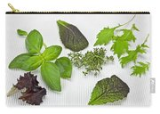 Salad Greens And Spices Carry-all Pouch by Joana Kruse