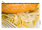 Salmon Steak On Pasta Decorated With Dill Carry-all Pouch
