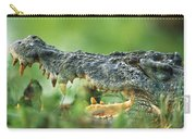 Saltwater Crocodile Crocodylus Porosus Carry-all Pouch by Cyril Ruoso