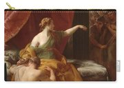 Samson And Delilah Carry-all Pouch by Pompeo Girolamo Batoni