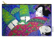 Samurai And Geisha Pillowing Carry-all Pouch