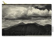 San Francisco Peaks In Black And White Carry-all Pouch