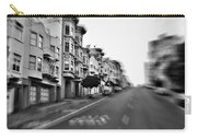 San Francisco Side Street-black And White Carry-all Pouch