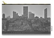 San Francisco Skyline-black And White Carry-all Pouch