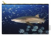 Sand Tiger Shark Swimming In Blue Water Carry-all Pouch