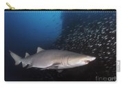 Sand Tiger Shark Swims By The Wreck Carry-all Pouch