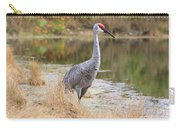 Sandhill Crane Beauty By The Pond Carry-all Pouch