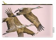 Sandhill Crane Family II Carry-all Pouch
