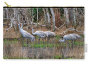 Sandhill Cranes In The Winter Marsh Carry-all Pouch