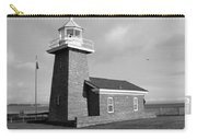 Santa Cruz Lighthouse - Black And White Carry-all Pouch