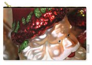 Santa Glass Ornament Carry-all Pouch
