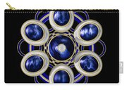 Sapphire And Gold Brooch Carry-all Pouch
