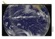 Satellite Image Of Earth Centered Carry-all Pouch by Stocktrek Images
