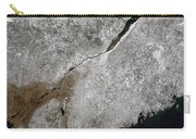Satellite View Of A Frosty Landscape Carry-all Pouch by Stocktrek Images