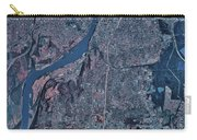 Satellite View Of Little Rock, Arkansas Carry-all Pouch