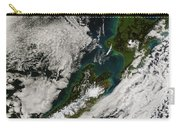 Satellite View Of New Zealand Carry-all Pouch