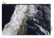 Satellite View Of Northeast Japan Carry-all Pouch by Stocktrek Images
