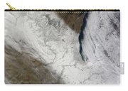 Satellite View Of Snow And Cold Carry-all Pouch