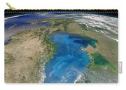 Satellite View Of Swirling Blue Carry-all Pouch