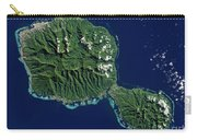 Satellite View Of Tahiti Carry-all Pouch