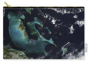 Satellite View Of The Bahama Islands Carry-all Pouch