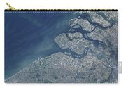 Satellite View Of The Belgium Coastline Carry-all Pouch