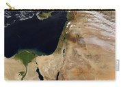 Satellite View Of The Middle East Carry-all Pouch