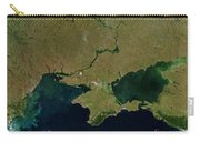Satellite View Of The Ukraine Coast Carry-all Pouch by Stocktrek Images