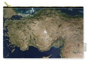 Satellite View Of Turkey And The Island Carry-all Pouch