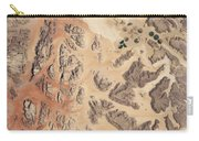 Satellite View Of Wadi Rum Carry-all Pouch
