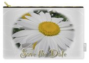 Save The Date Greeting Card - White Daisy Wildflower Carry-all Pouch