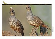 Scaled Quail Pair Carry-all Pouch