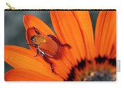Scarab Beetle On A Guzmania Flower Carry-all Pouch
