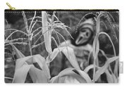 Scarecrow In The Corn Black And White Carry-all Pouch