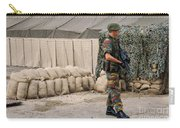 Scenery Of A Checkpoint Used Carry-all Pouch by Luc De Jaeger