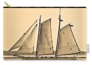 Scenic Schooner - Sepia Carry-all Pouch