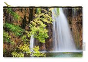 Scenic Waterfall In Autumn Carry-all Pouch