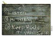 School House Chalkboard Carry-all Pouch