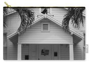 School House In Black And White Carry-all Pouch