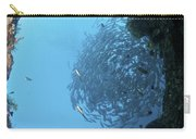 School Of Trevally Seen Through Hole Carry-all Pouch