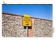 School Parking Sign Carry-all Pouch