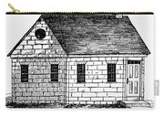 Schoolhouse, 18th Century Carry-all Pouch