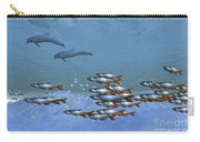 Schools Of Fish Swim In The Blue Ocean Carry-all Pouch