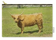 Scottish Highland Cow In Farm Field Maine Carry-all Pouch