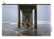 Scripps Pier Surfer 2 Carry-all Pouch by Bob Christopher