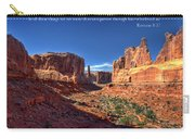 Scripture And Picture Romans 8 37  Carry-all Pouch