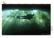 Scuba Diver In The Cavern Part Carry-all Pouch by Karen Doody