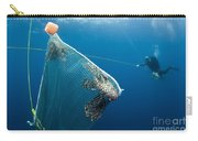 Scuba Diver Nets Invasive Indo-pacific Carry-all Pouch