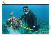 Scuba Diver With Spear Of Invasive Carry-all Pouch